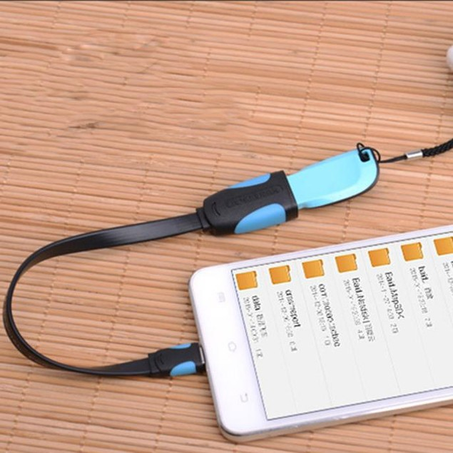 Vention 0.10M Micro USB To OTG Data Connect Cable Adapter For Phone