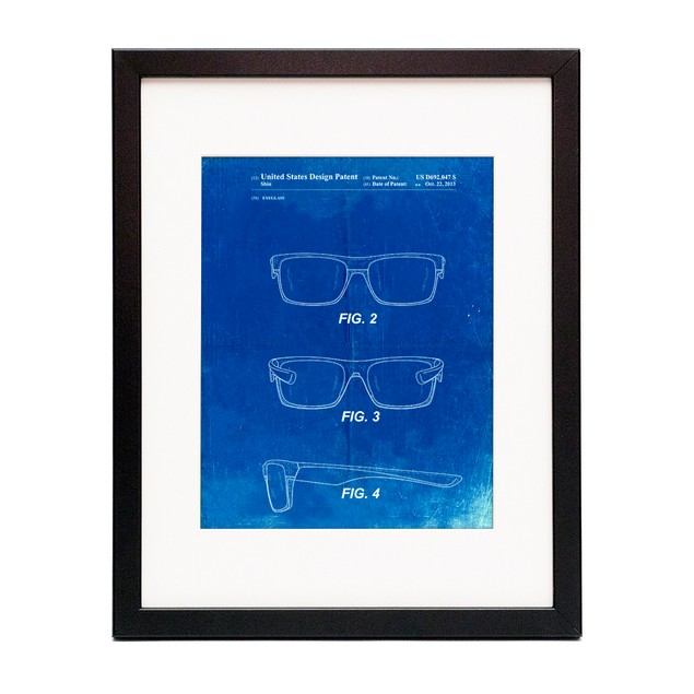 Two Face Prizm Sunglasses Patent Poster