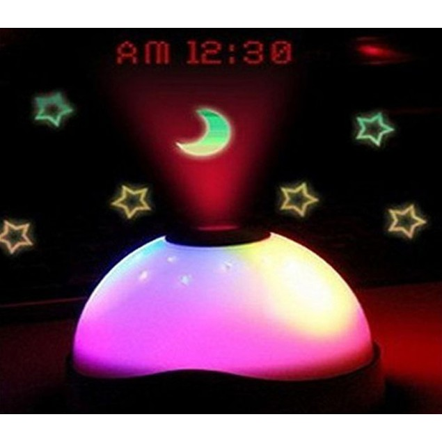 Kids Star-Projecting LED Night Light Alarm Clock - Watch the Video