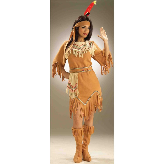 Native American Womens Costume Pocahontas Sacagawea Indian Maiden Adult