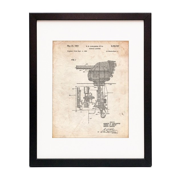 Missile Launcher Cold War Patent Poster