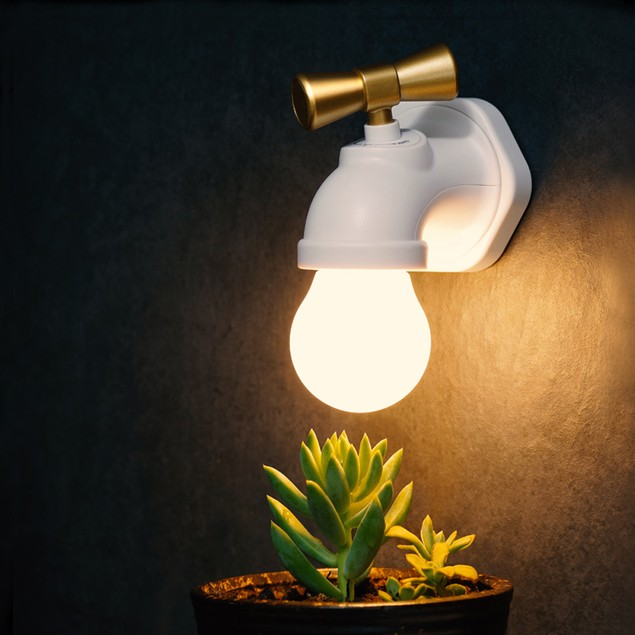 Voice Control LED Night Lamp USB Rechargeable Tap Night Light