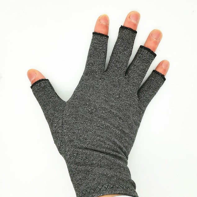 Women and Men Arthritis Gloves Open Finger Arthritis Gloves