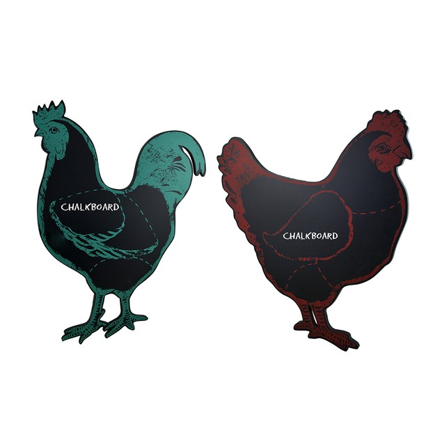 Clucky Chicken & Reddy Rooster Distressed Finish Decorative Plaques