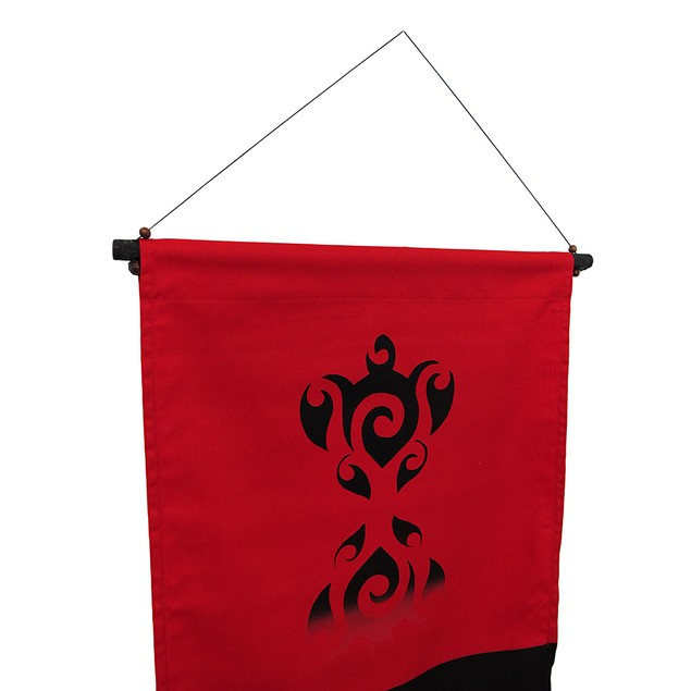 Red And Black Cotton Cherokee Prayer Banner Wall Tapestries