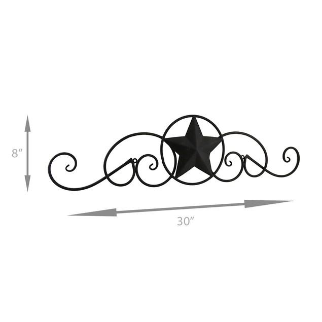 Scrolling Metal Western Star Decorative Wall Decorative Plaques