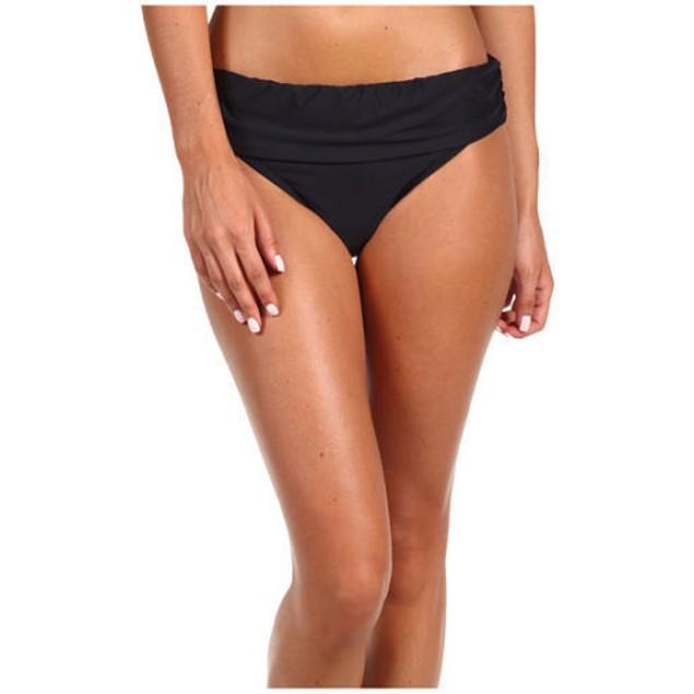 ATHENA Women's Finesse Banded Bikini Bottom, Black SIZE 6