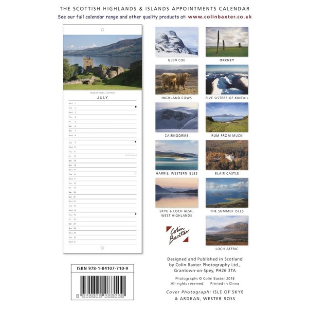 Scottish Highlands and Islands Wall Calendar, Scotland by Colin Baxter Phot