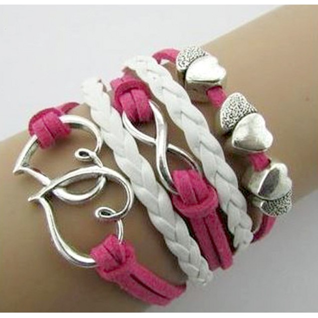 Florence Scovel- Double Heart Infinity Bracelet