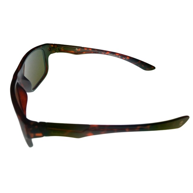 Timberland Mens Rectangle Matt Tortoise Plastic Sunglass TB7155 52E