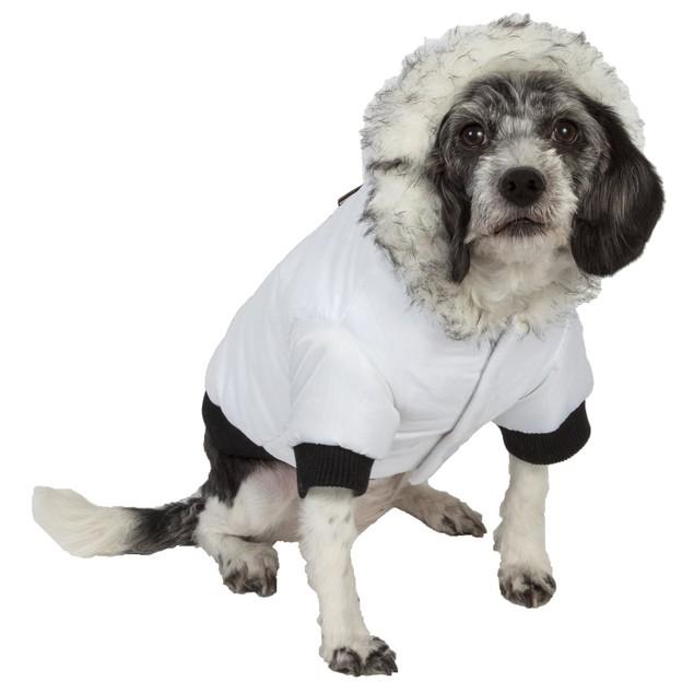 Aspen Winter-White Fashion Dog Parka Coat