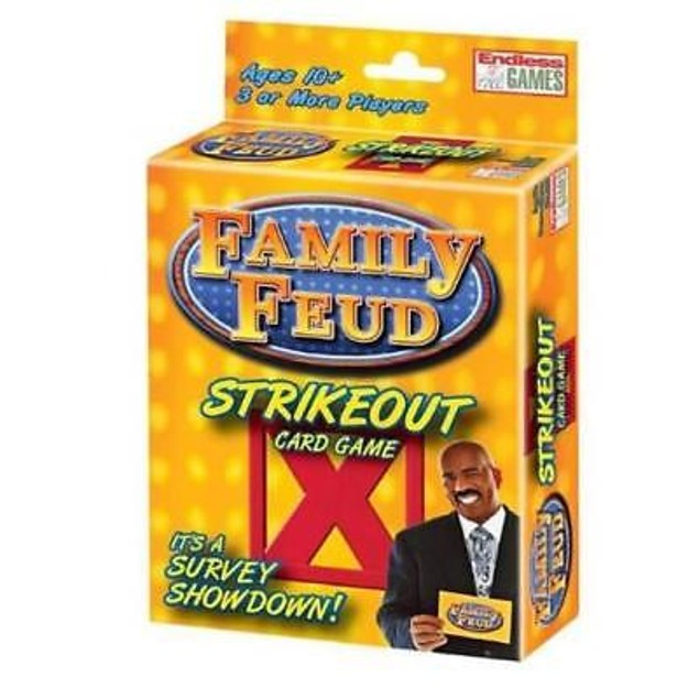 Family Feud Strikeout Card Game - Family Board Game