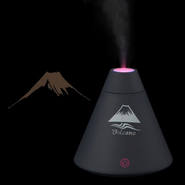 Volcano Humidifier USB Air Diffuser Purifier Atomizer LED Night Light