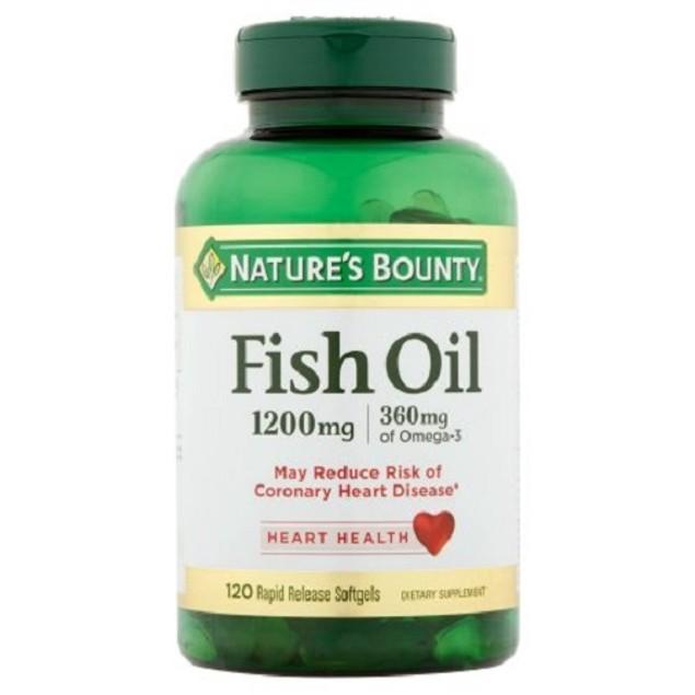 Nature's Bounty Fish Oil Omega-3 1200 mg 120 Softgels