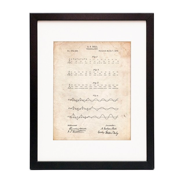 Morse Code Patent Poster