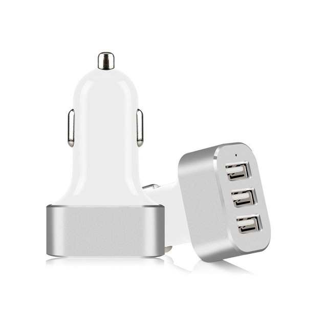 3 USB Port Car Charger Adapter 5.1A For iPhone Samsung LG Universal