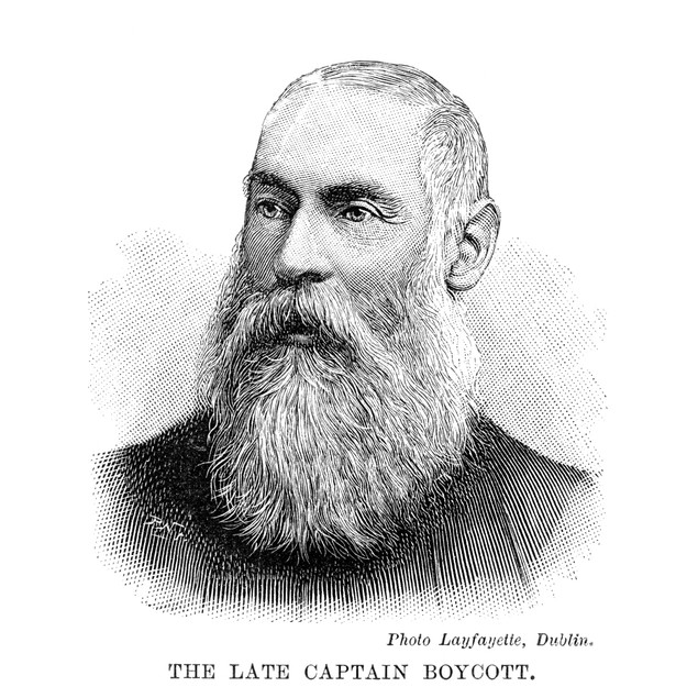 Charles Cunningham Boycott /N(1832-1897). English Estate Agent. Line Engrav