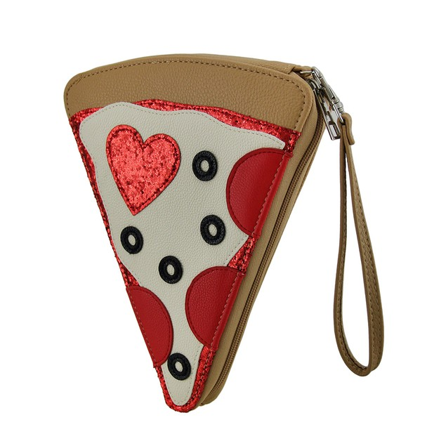Pizza Party Slice Of The Pie Pepperoni Pizza Purse Womens Clutch Handbags