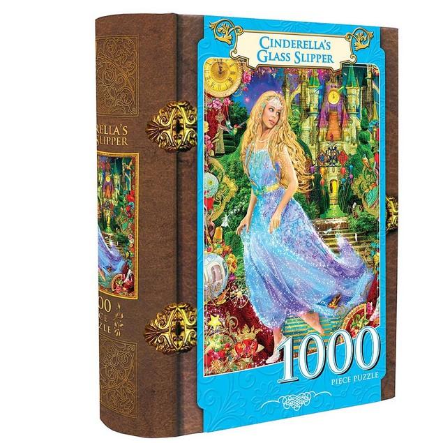 Cinderella's Glass Slipper 1000 Piece Book Puzzle, 1,000 Piece Puzzles by M