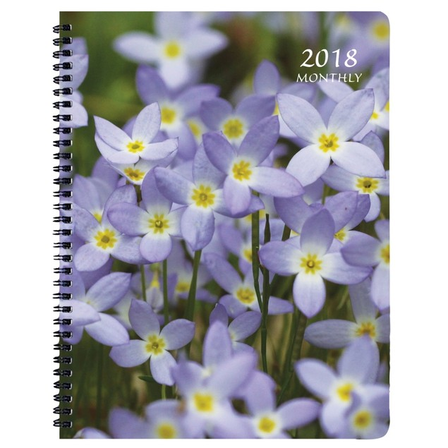 Floral Softcover Monthly Planner, Flower Art by Calendars