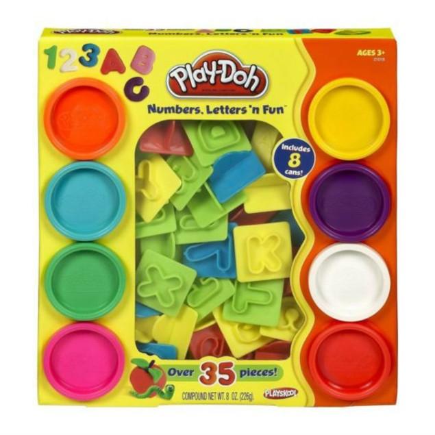 Play-Doh Numbers Letters N Fun Art Multi Kids Toddler Games Play Set