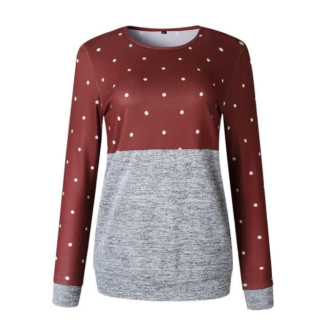 Polka Dot Top Long Sleeve Shirt