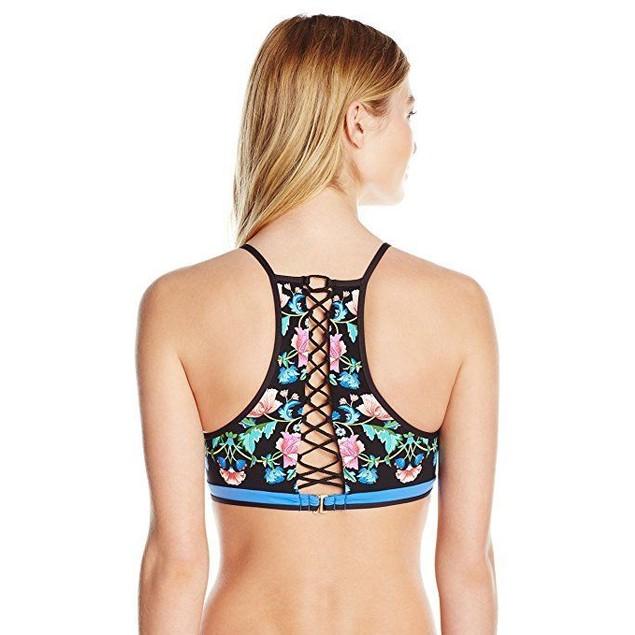 Nanette Lepore Women's Damask Floral Stargazer  Bra Bikini Top SZ: S
