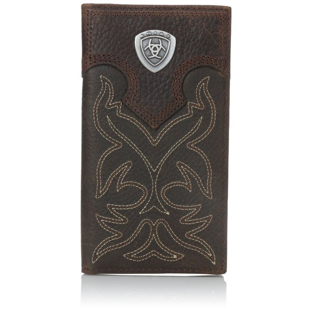 Ariat Men's Boot-Embroidery Rodeo Tan Wallet Brown One Size