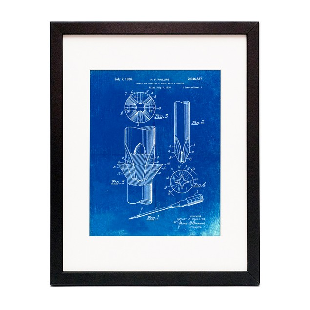 Phillips Head Screw Driver Patent Poster