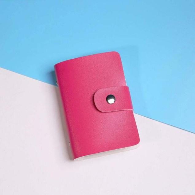 Leather Credit Card Holder Case Card Holder Wallet Business Card