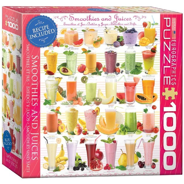 Smoothies 1000 Piece Puzzle, 1,000 Piece Puzzles by Eurographics