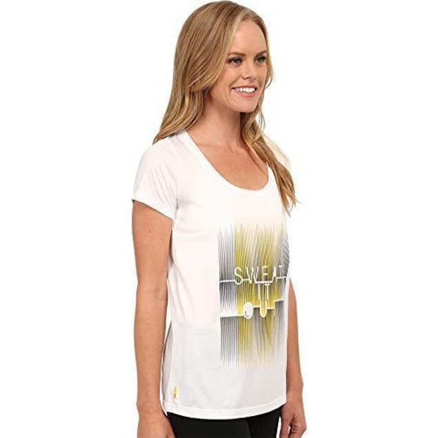 Lole Women's Maddie Top White Sweat It Out T-Shirt MD
