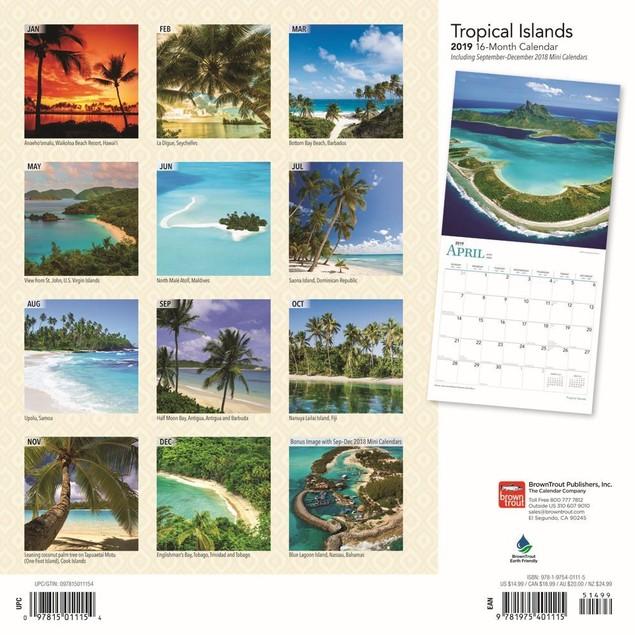 Tropical Islands Wall Calendar, Beaches by Calendars