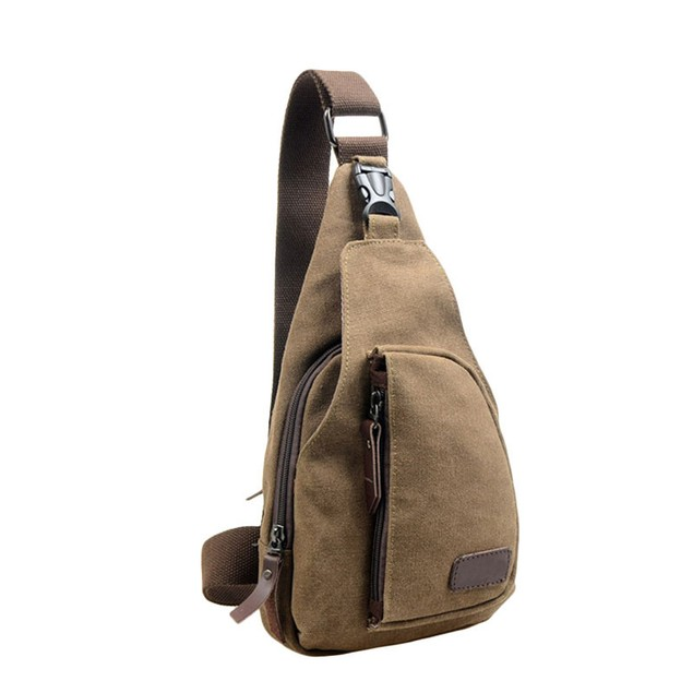 Men's Canvas Crossbody Shoulder Bag - Assorted Colors