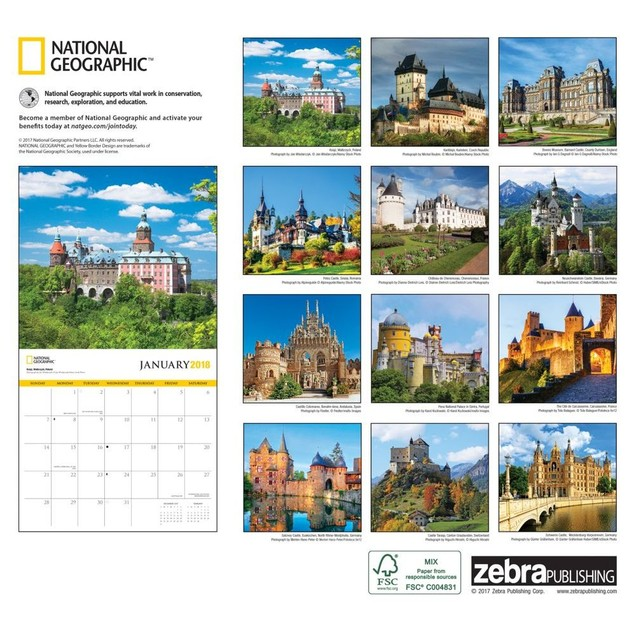 Castles NG Wall Calendar, Castles by Zebra Publishing