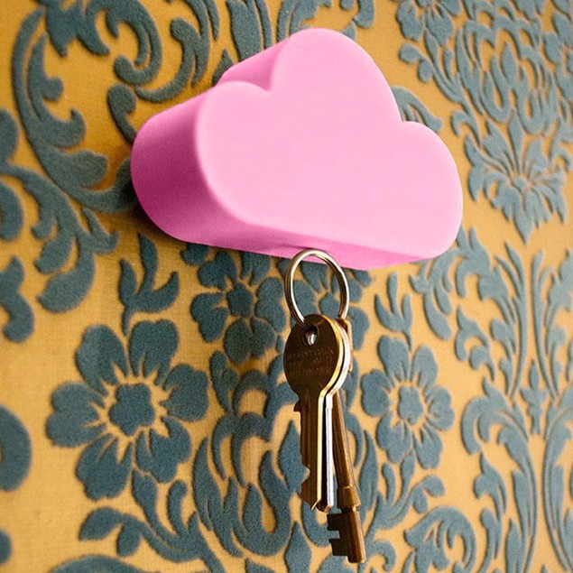 Creative Home Storage Holder White Cloud Shape Magnetic Magnets Key Holder