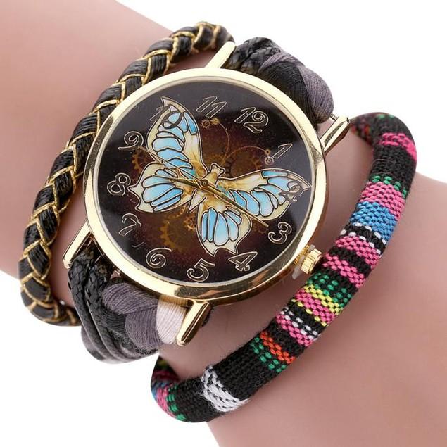 The Sleek Stylish And Chic Knit Bracelet Butterfly Watch
