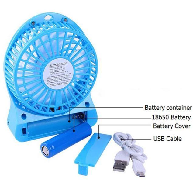Mini Rechargeable LED Desk Fan