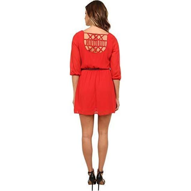 Gabriella Rocha Women's Sunday Belted Dress Poppy Red XL