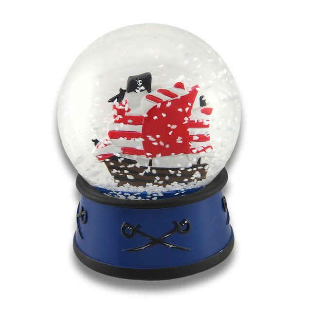 Children`S Pirate Ship Snow Globe And Trinket Box Decorative Boxes