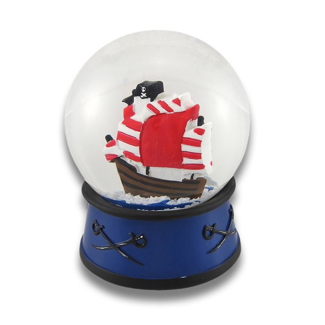 Children`S Pirate Ship Snow Globe 4 In. Childrens Snow Globes