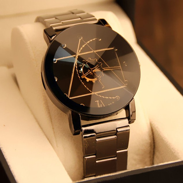 Fashion Watch Stainless Steel Man Quartz Analog Wrist Watch