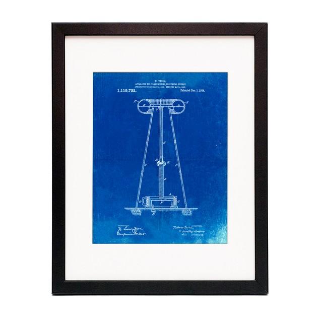 Tesla Energy Transmitter Patent Poster