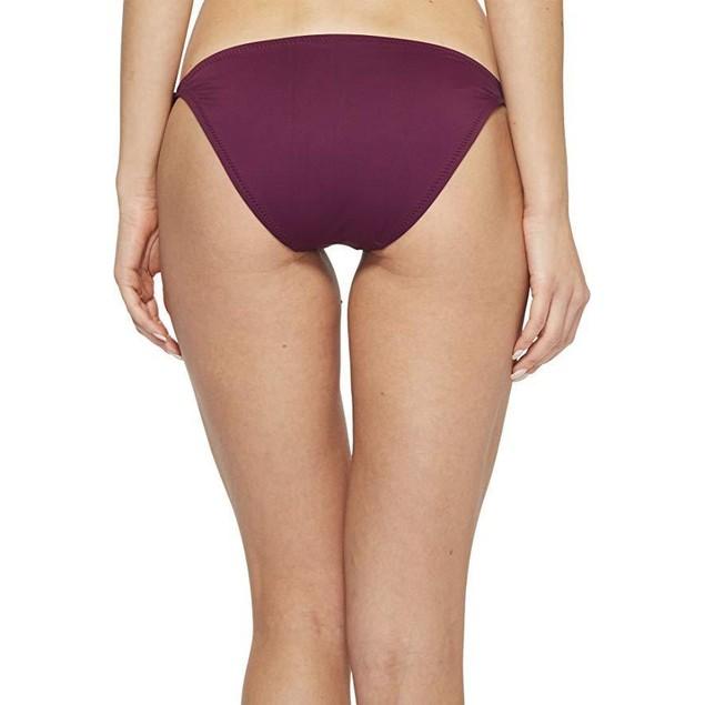 Becca by Rebecca Virtue Women's Tie Side Hipster Bikini Bottom Raisin