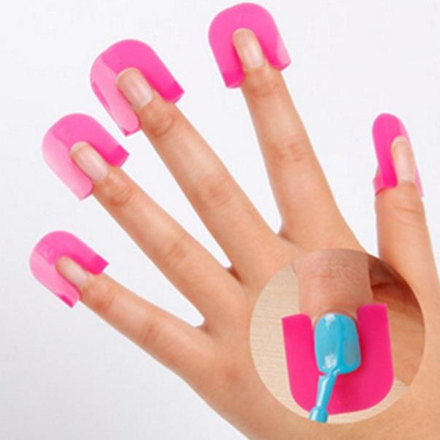 26pcs Nail Polish Glue Spill Proof Manicure + Manicure Stickers