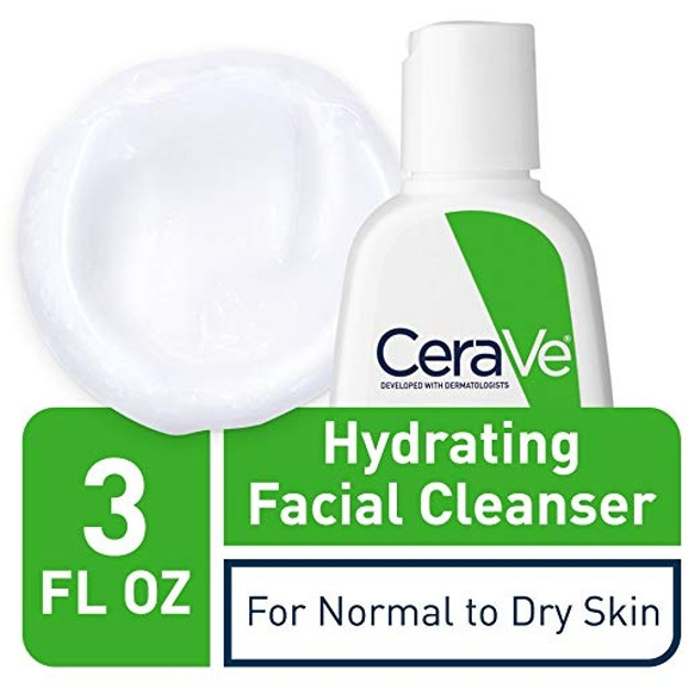 CeraVe Hydrating Facial Cleanser 3 oz