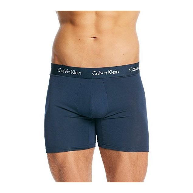 Calvin Klein Men's Underwear Body Modal Boxer Briefs, Blue Shadow Sz:
