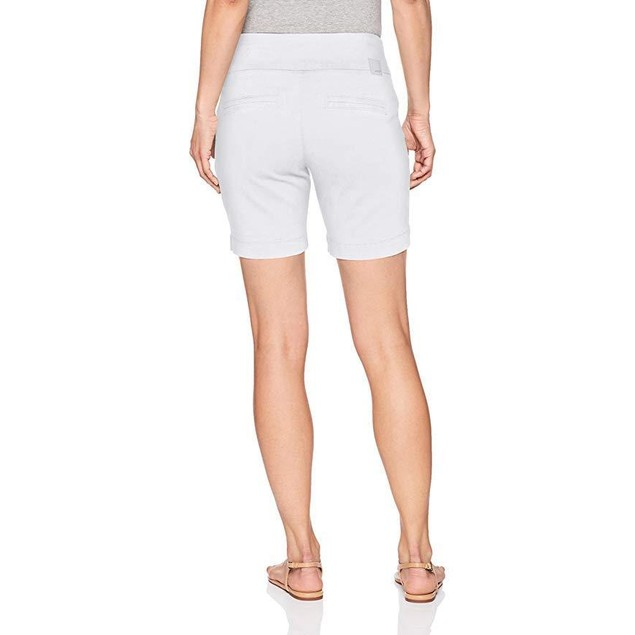 "Jag Jeans Women's Petite Ainsley 7"" Pull On Short, White, 12P"