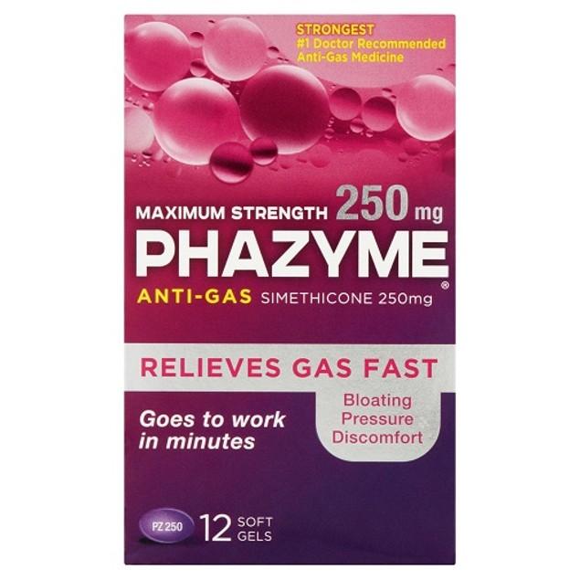 Phazyme Maximum Strength Anti Gas Medicine Softgels