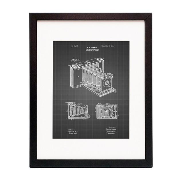 Pocket Folding Camera Patent Poster